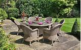 Synthetic rattan garden furniture by Bridgman