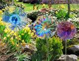 glass garden flower stakes a work of art