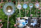 ... old glass dishes and plates into these fabulous garden art flowers
