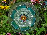 winner salvaged glass garden flower