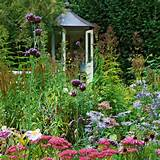 Flower garden with outhouse | Country cottage garden tour | Garden ...