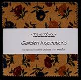 moda fabric charm pack garden inspirations by kansas troubles
