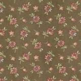 moda fabric with a small daisy design on a coffee background from the