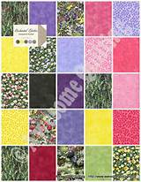 Charm Pack - Enchanted Garden - MODA quilting fabric squares by ...
