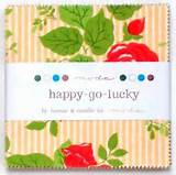 CHARM PACK~HAPPY GO LUCKY~MODA FABRIC~42-5