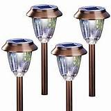 garden lights moonrays hudson solar garden lights 4 pk 91949