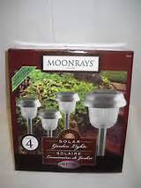 moonrays solar garden lights 4 pack 93004 new