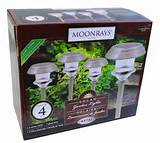 moonrays 91354 solar white led garden outdoor lawn lights lamp