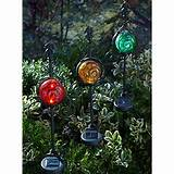 moonrays jeweled sphere solar garden accents