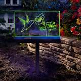 moonrays 96971 solar powered led hummingbird garden stake sign