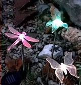 decorative insect shaped solar powered garden lights 1
