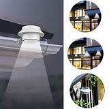 solar power powered outdoor garden light gutter fence led wallwith