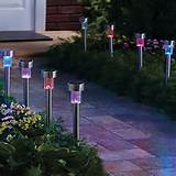 light led rechargeable garden lawn lamp 4 pack led solar lights cheap