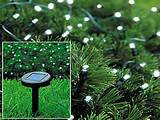 Details about 100 WHITE LED SOLAR FAIRY LIGHTS GARDEN OUTDOOR XMAS