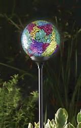 solar garden globe light murano terra