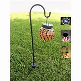 home garden tiffany style mosaic glass solar decorative light