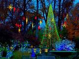 atlanta botanical gardens holiday lights tree