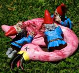 ... we have posted about combat garden gnomes and superhero garden gnomes