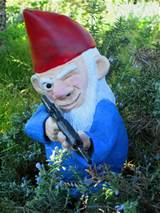 for those boring old garden gnomes, and instead makes these armed lawn ...