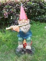 large image handmade funny garden gnomes musical elf with exquisite