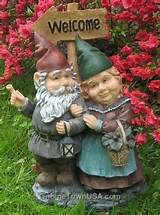 Welcoming Committee Gabby + Herman Garden Gnomes w/sign