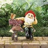 garden gnome greeting sign wholesale 39265 garden statue cheap garden
