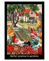better gnomes and gardens art print by ken brown