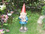 resin mini funny garden gnomes figurine porcelain for decorating