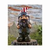 18 inch gnome holding toadstool umbrella mushroom nome garden statue