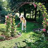 make your own garden arch with rebar