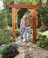 build a garden arch step by step the family handyman