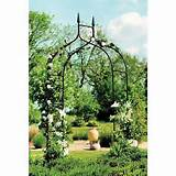 arbor garden trellis arch iron wrought yard patio metal gazebo wedding