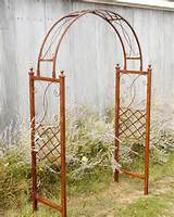 metal flower trellis wrought iron skyview arbor garden arch