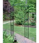 about garden arch arbor yard backyard path wedding metal trellis