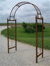 wrought iron skyview arbor garden arch flower trellis