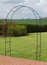 about 2 4m 7ft 10 coated steel metal garden rose arch trellis