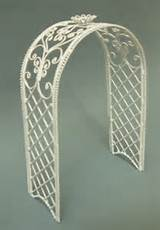 larger image trellis arch white metal 19 99 trellis
