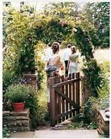 arch archway fence flowers garden gate