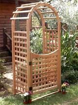 Garden Arch Arbor with Gate
