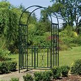 Kensington Metal Garden Arch With Gates