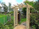 Trellis Arch With Gate Wooden garden arch