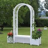 Garden Arch Planter Seat White