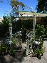 You are here: Home > Products > White Garden Arch with Gates
