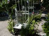 white garden arch with gates $ 550 antique white finished metal arch ...