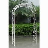 Wrought Iron Garden Arch - White