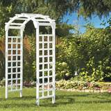 white arch arbor sku mfs35w a great value the sturdy white arch arbor ...