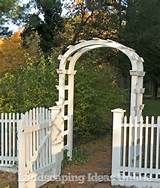 White Picket Fence and Garden Arch