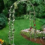 Tulip Trellis Garden Arch White