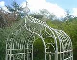 Details about WHITE METAL GARDEN ARCH Height 9 Ft Ornate French Style