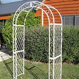 NEW LARGE SHABBY CREAM WEDDING GARDEN ARCH ORNATE METAL CHIC FRENCH ...